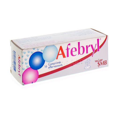 Afebryl 300 Mg / 300 Mg / 200 Mg  16 Comprimes Effervescents