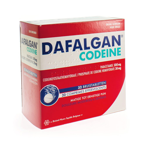Dafalgan Codeine 500 Mg / 30 Mg  32 Comprimes Effervescents