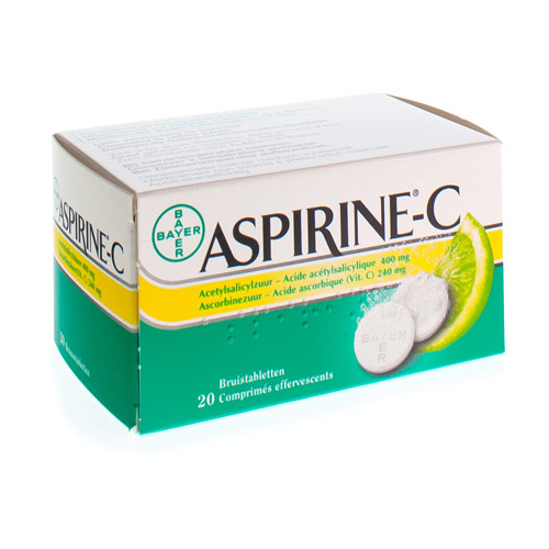 Aspirine C 400 mg / 240 mg (20 bruistabletten)