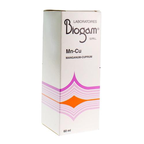 Biogam Manganum-Cuprum Mn-Cu 60Ml