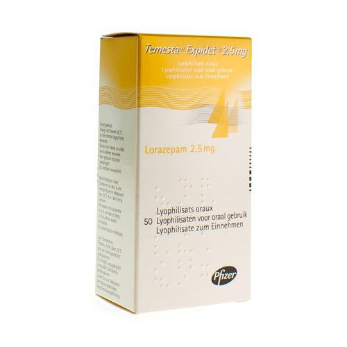 Temesta Expidet 2,5 Mg (50 Lyophilisaten)