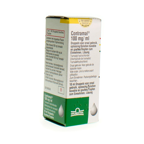 Contramal Gouttes 100 Mg/Ml  10 Ml