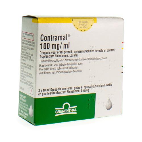 Contramal Gouttes 100 Mg/Ml  3 X 10 Ml