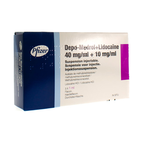 Depo-Medrol Lidocaine 40 Mg/Ml / 10 Mg/Ml (3 Vials)