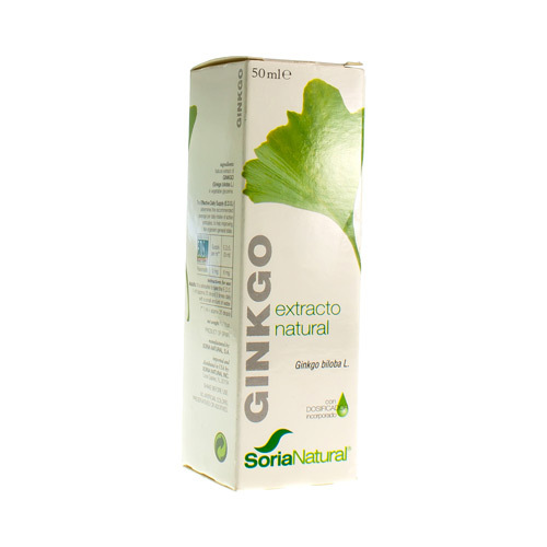 Soria Natural Ginkgo Biloba Gtts 50Ml