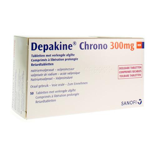 Depakine Chrono 300 Mg  50 Comprimes