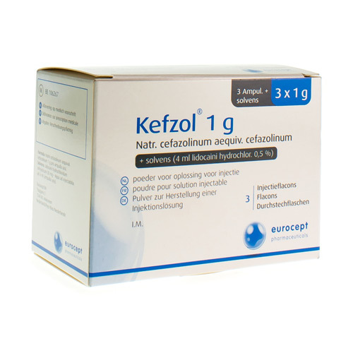 Kefzol + Lidocaine 1 G (3 Ampoules)