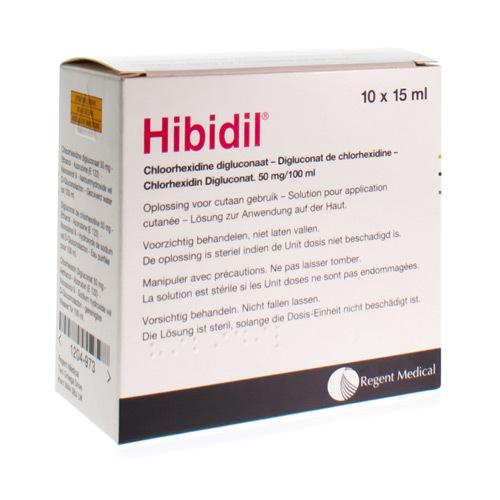 Hibidil 50 Mg/100 Ml (10 X 15 Ml Ampoules)