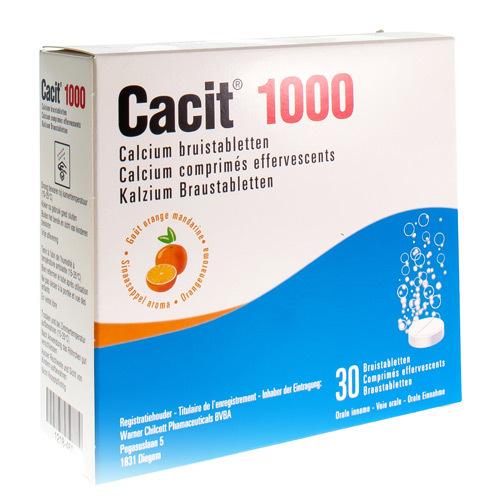 Cacit 1000 Mg  30 Comprimes Effervescents