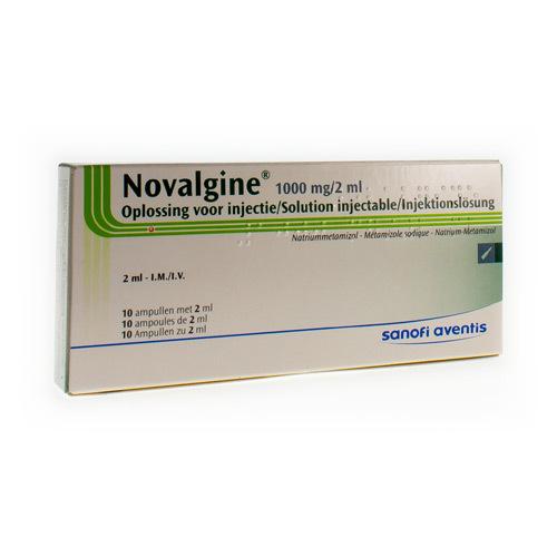 Novalgine 1000 Mg/2 Ml (10 Ampullen)