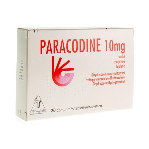 Paracodine 10 Mg (20 Comprimes)