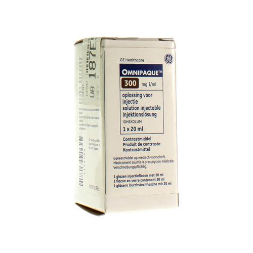 Omnipaque 300 mg I/ml (1 x 20 ml injectieflacon)
