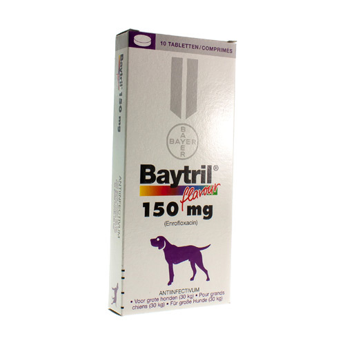 Baytril Veterinaire 150 Mg  10 Comprimes