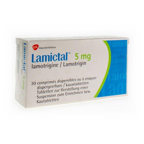 Lamictal 5 Mg (30 Comprimes a Croquer)
