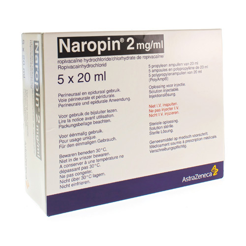 Naropin 2,0Mg/Ml Amp 5X 20Ml