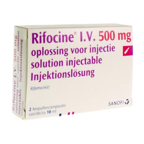 Rifocine I.V. 500 Mg (2 Ampullen)