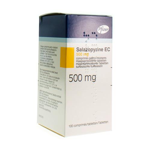 Salazopyrine Ec 500 Mg (100 Comprimes Gastro-Resistants)