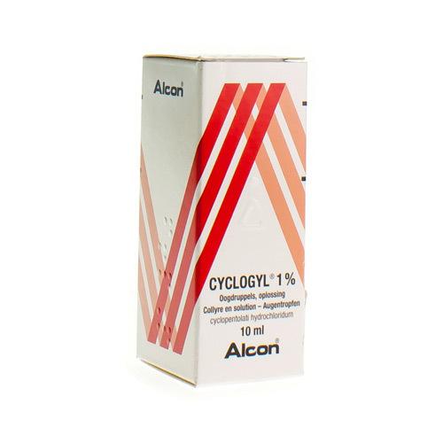 Cyclogyl Collyre 1%  10 Ml