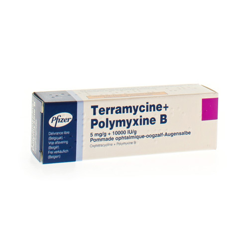 Terramycine + Polymyxine B Oogzalf (3,5 Gram)