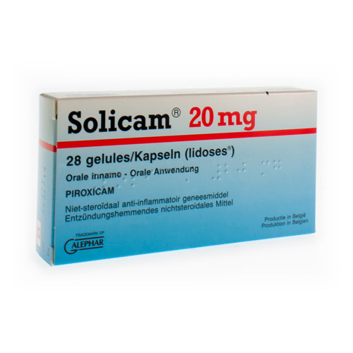 Solicam 20 Mg (28 Gelules)