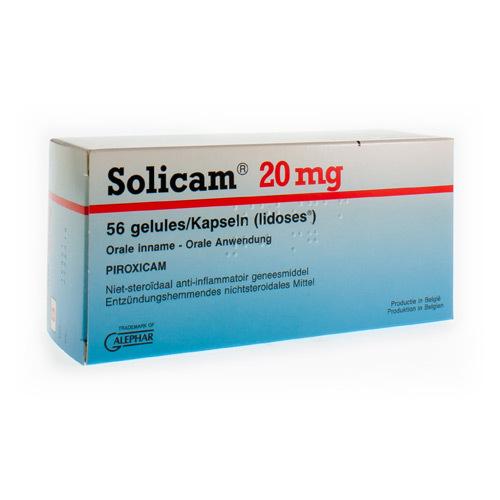 Solicam 20 Mg (56 Capsules)