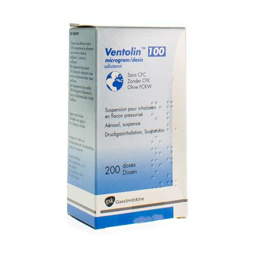 Ventolin 100 Mcg/Dose (200 Doses) - Pharmacie Medibib