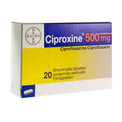 Ciproxine 500 Mg  20 Comprimes
