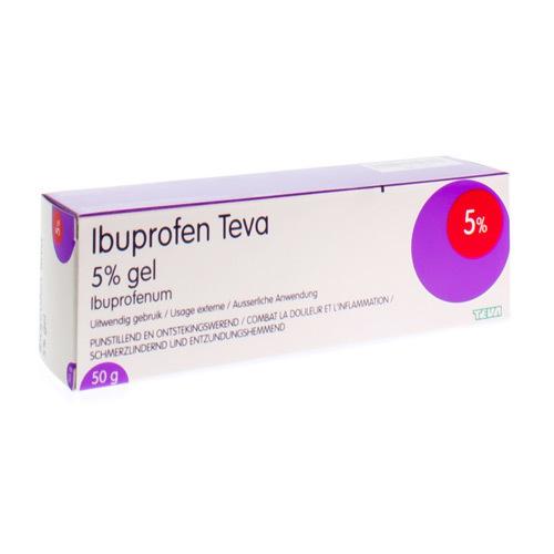 Ibuprofen Teva Gel 5% (50 Grammes)