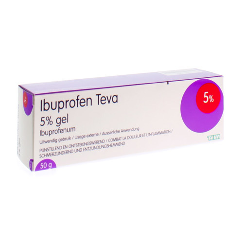 Ibuprofen Teva Gel 5% (50 Gram)