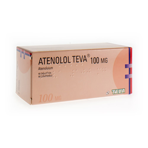 Atenolol Teva 100 Mg  60 Comprimes