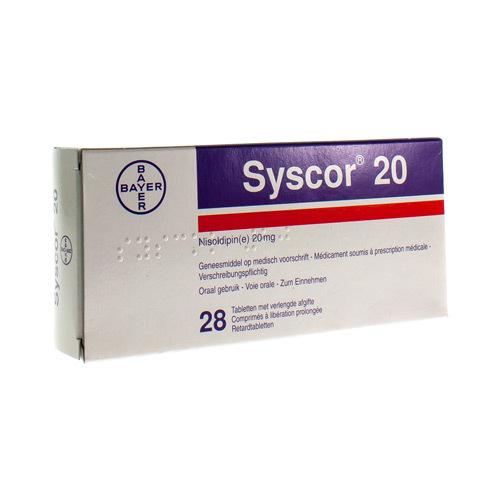 Syscor 20 Mg (28 Comprimes)