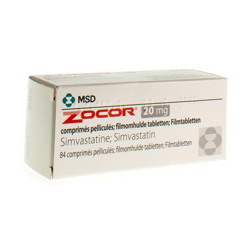 Zocor 20 Mg (84 Comprimes)