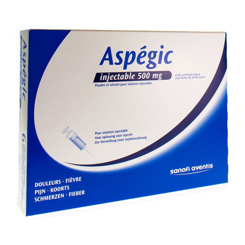 Aspegic Injectable 500 Mg  6 Doses
