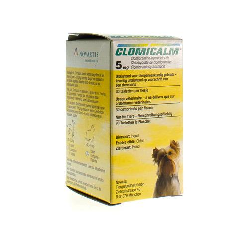 Clomicalm Vet. 5 Mg Hond 30 Tabl