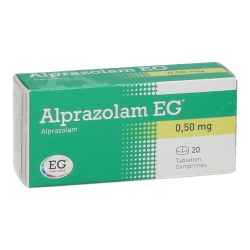 Alprazolam EG 0,50 Mg  20 Comprimes