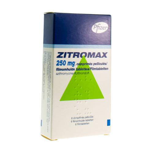 Zitromax 250 Mg (6 Comprimes)