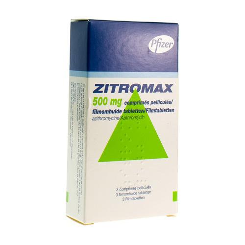 Zitromax 500 Mg (3 Comprimes)