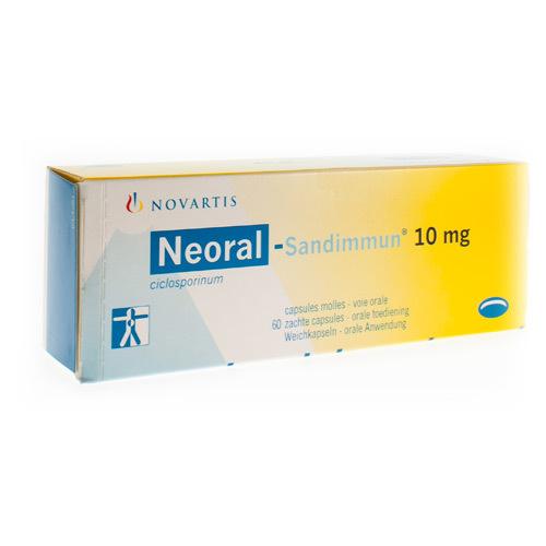 Neoral-Sandimmun 10 Mg (60 Capsules)