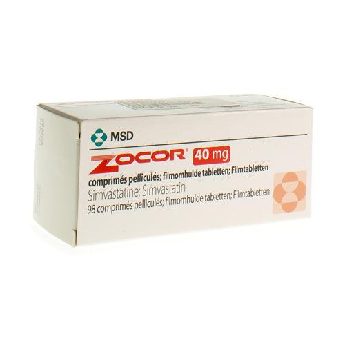 Zocor 20 Mg (98 Comprimes)