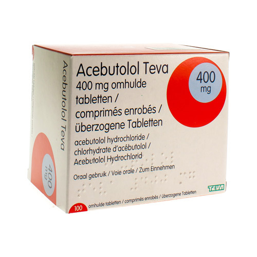 Acebutolol Teva 400 Mg  100 Tabletten
