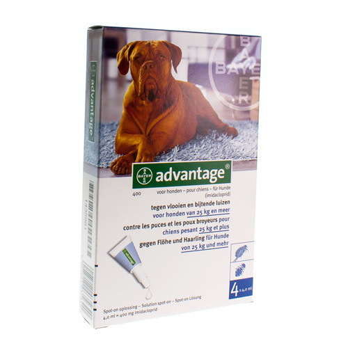 Advantage Pour Chiens Veterinaire 400 Mg  4 Pipettes