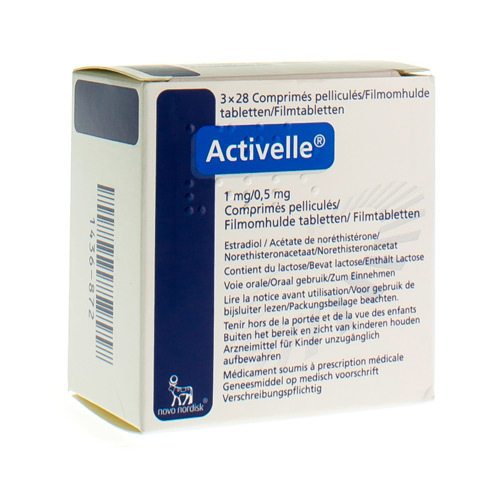 Activelle 1 Mg / 0,5 Mg  3 X 28 Comprimes