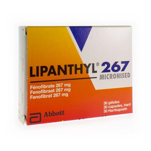 Lipanthyl Micronised 267 Mg (30 Gelules)