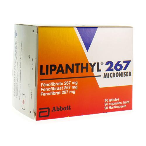 Lipanthyl Micronised 267 Mg (90 Gelules)