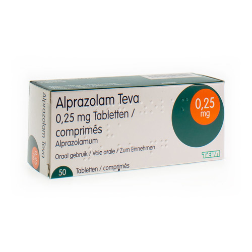 Alprazolam Teva 0,25 Mg  50 Tabletten