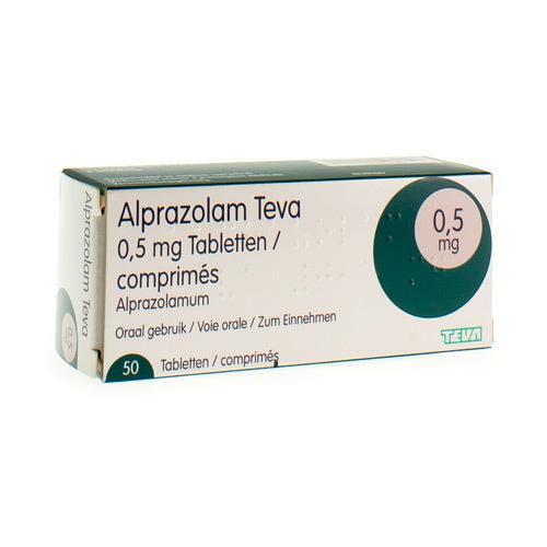 Alprazolam Teva 0,50 Mg  50 Comprimes