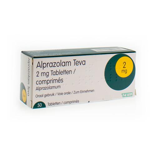 Alprazolam Teva 2 Mg  50 Comprimes