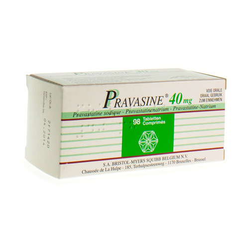 Pravasine 40 Mg (98 Comprimes)