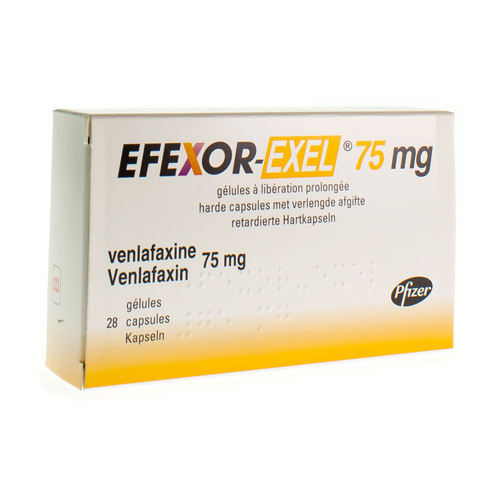 Efexor-Exel 75 Mg (28 Gelules)