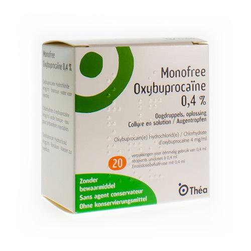 Monofree Oxybuprocaã¯Ne 4 Mg/Ml (20 X 0,4 Ml)
